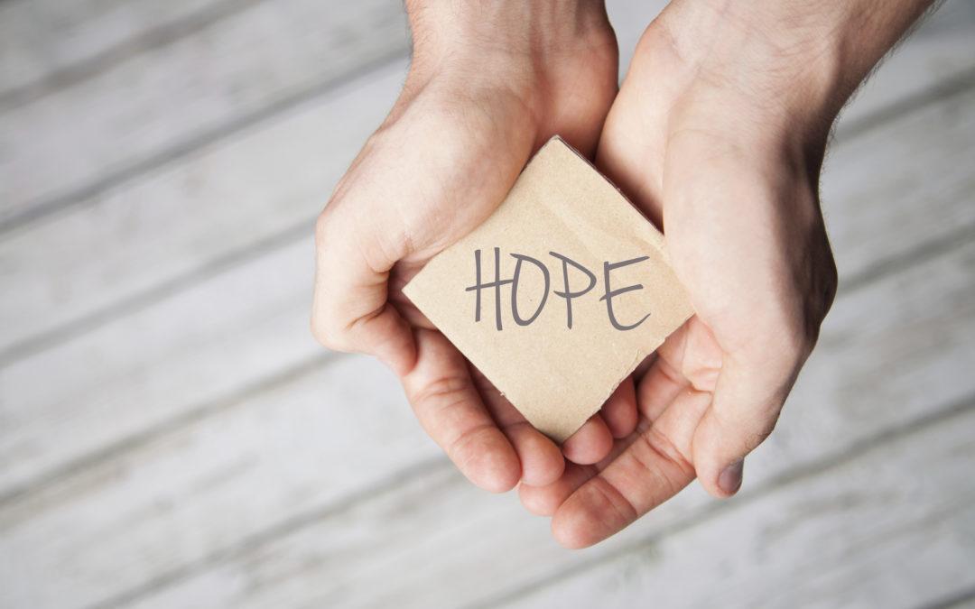 Hands offering Hope